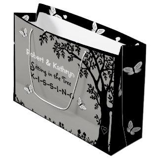 Boda/aniversario personalizados romántico bolsa de regalo grande