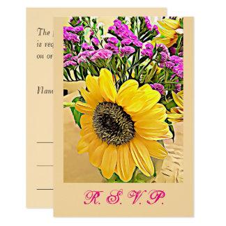 Boda, aniversario, tarjetas de RSVP del cumpleaños