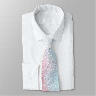Boda azul claro y rojo de la acuarela corbata personalizada