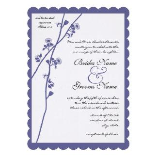 Boda azul de la rama del Wildflower del bígaro