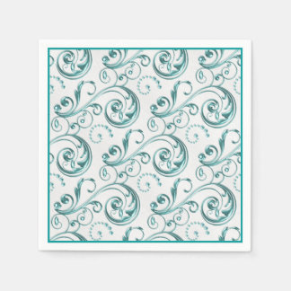 Boda azul del trullo servilletas de papel