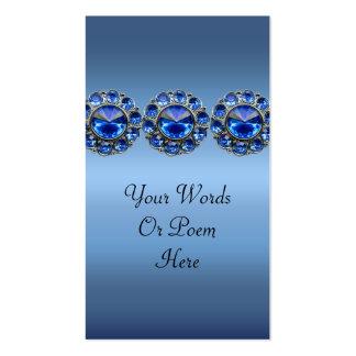 Boda Bejeweled azul helado Tarjetas De Visita
