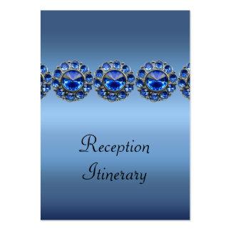 Boda Bejeweled azul helado Tarjetas De Visita Grandes