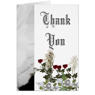 Boda blanco y negro clásico tarjeta de felicitación