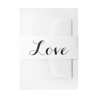 Boda blanco y negro del amor cintas para invitaciones