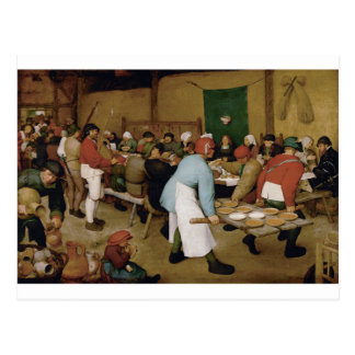 Boda campesino de Pieter Bruegel la anciano Tarjeta Postal