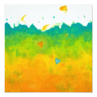 Boda caprichoso del cuadrado del arte moderno del invitación 13,3 cm x 13,3cm