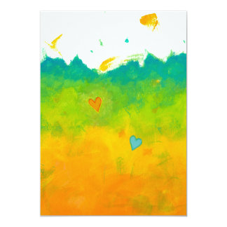 Boda caprichoso único del arte moderno del amor invitación 12,7 x 17,8 cm