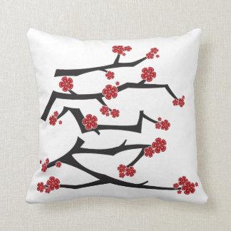 Boda chino de Sakura de las flores de cerezo del Cojín Decorativo