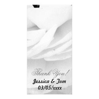 Boda color de rosa blanco y negro tarjetas fotograficas