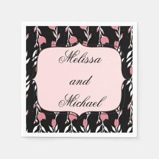Boda color de rosa rosado servilletas de papel