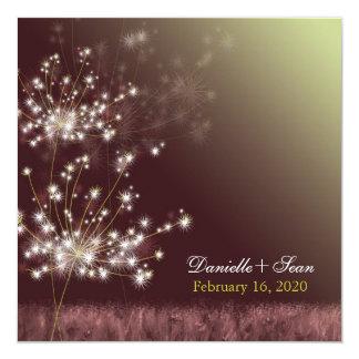 Boda crepuscular del jardín del otoño del diente invitación 13,3 cm x 13,3cm