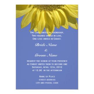 Boda cristiano del verano de la flor brillante del invitación 13,9 x 19,0 cm