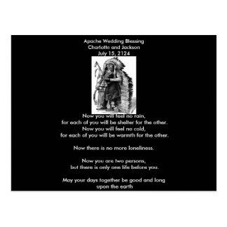 Boda de Apache que bendice al jefe de Dakota-Siux Tarjeta Postal