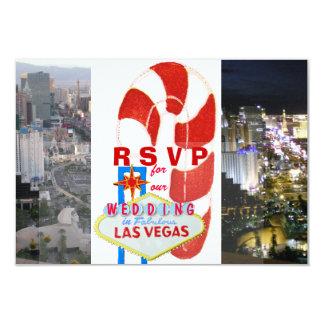 Boda de diciembre en Las Vegas Invitación 8,9 X 12,7 Cm