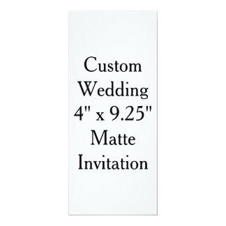 """Boda de encargo 4"""" x 9,25"""" invitación mate invitación 10,1 x 23,5 cm"""