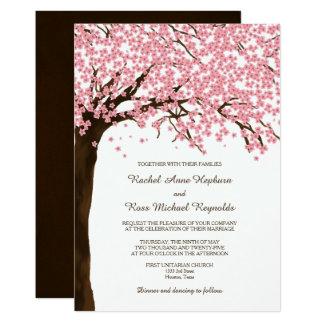 Boda de la acuarela de Sakura de las flores de Invitación 12,7 X 17,8 Cm