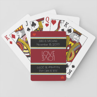 boda de la celebración del amor de los pares barajas de cartas