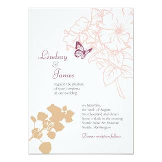 Boda de la dicha de la primavera (Zinnia) Invitación 12,7 X 17,8 Cm