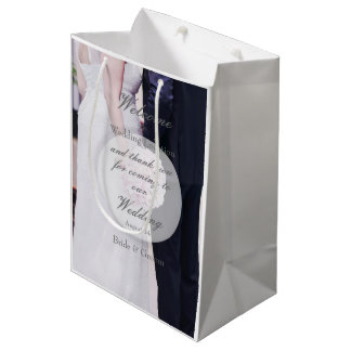 Boda de la novia y del novio bolsa de regalo mediana