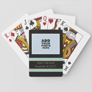 boda de la personalizado-par-foto barajas de cartas