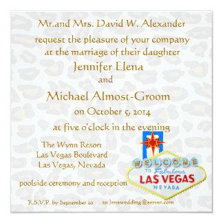 Boda de la piel del leopardo de Las Vegas Invitación 13,3 Cm X 13,3cm