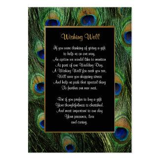 Boda de la pluma del pavo real - deseando bien plantillas de tarjetas personales