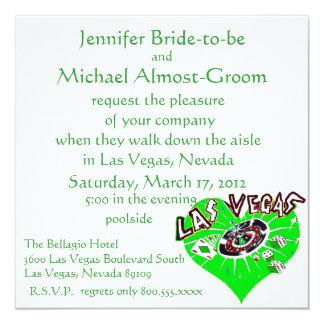 Boda de Las Vegas St Patrick Invitación 13,3 Cm X 13,3cm