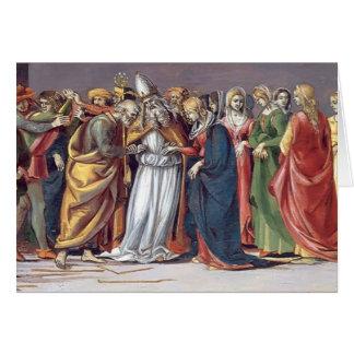 Boda de Luca Signorelli- de la Virgen Tarjeta De Felicitación
