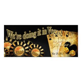 Boda de lujo de Las Vegas del reflejo de Felicia Invitación 10,1 X 23,5 Cm