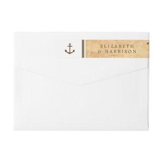 Boda de papel enmarcado ancla náutica del vintage