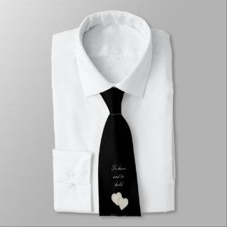 Boda de plata negro elegante del corazón corbata personalizada
