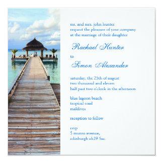 Boda de playa de Maldivas del embarcadero de la Invitaciones Personalizada
