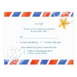 Boda de playa del caballo de mar del correo aéreo  tarjetas postales