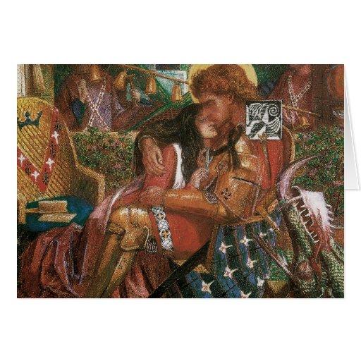 Boda de princesa Sabra Dante Rossetti de San Jorge Tarjetón