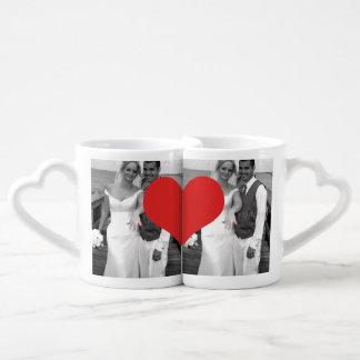 Boda de Sr. y de señora Newly Wednesday Heart Set De Tazas De Café