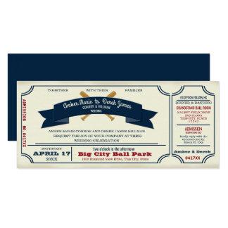 Boda del béisbol del vintage invitación 10,1 x 23,5 cm