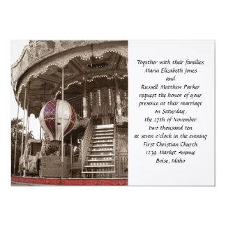 Boda del carrusel de París Invitación 12,7 X 17,8 Cm