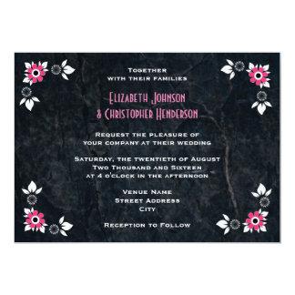 Boda del comensal del estilo de los años 50 invitación 12,7 x 17,8 cm