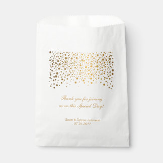 Boda del confeti del oro bolsa de papel