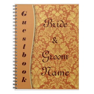 Boda del damasco del moreno o cuaderno del Guestbo