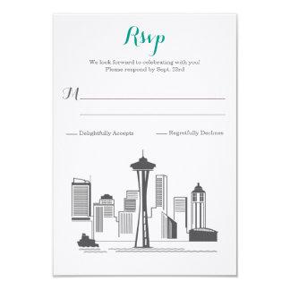 Boda del horizonte de RSVP Seattle Invitación 8,9 X 12,7 Cm