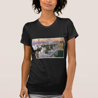 Boda del invierno en Washington C. cuadrada 1897 Camiseta