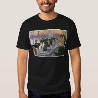 Boda del invierno en Washington C. cuadrada 1897 Camisetas