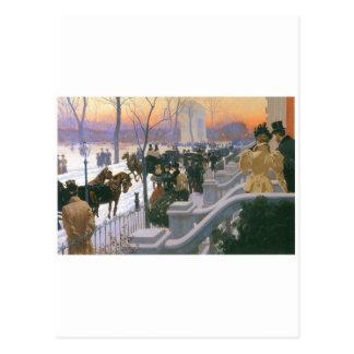 Boda del invierno en Washington C. cuadrada 1897 Postal