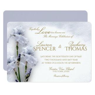 Boda del jardín del iris de la primavera invitación 12,7 x 17,8 cm