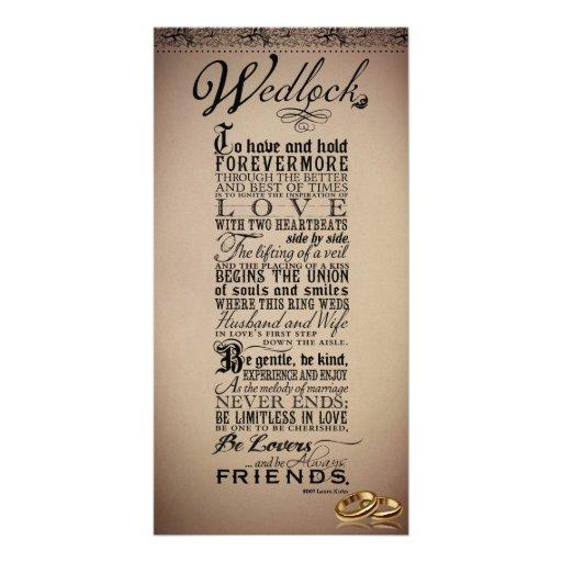 Boda del matrimonio que casa el poema original tarjeta personal