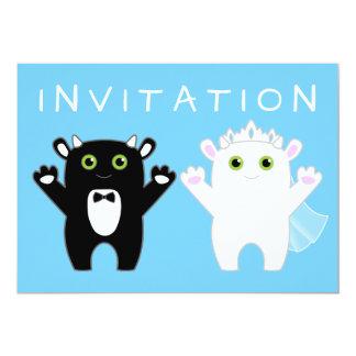 Boda del monstruo invitación 12,7 x 17,8 cm