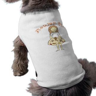 Boda del otoño del florista camisetas mascota