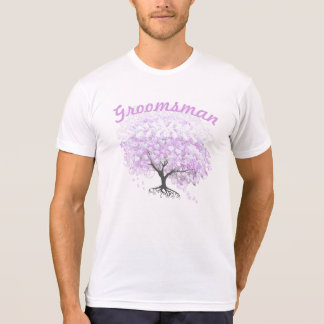 Boda del pájaro del vintage del árbol de la camiseta